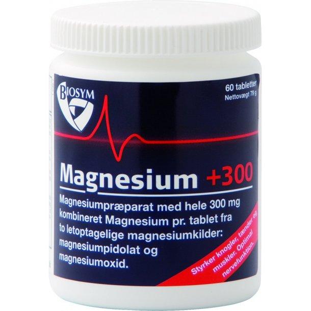 Magnesium, 300 mg, 60 tabletter