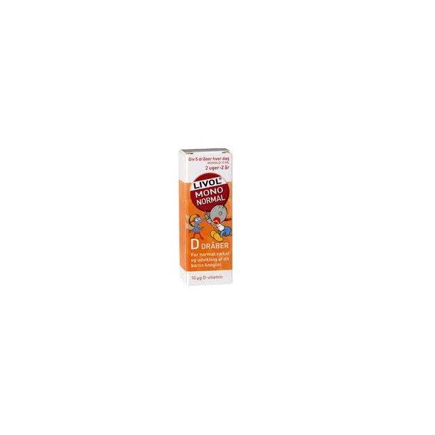 D-vitamind D-dråber, Livol, 10 ml